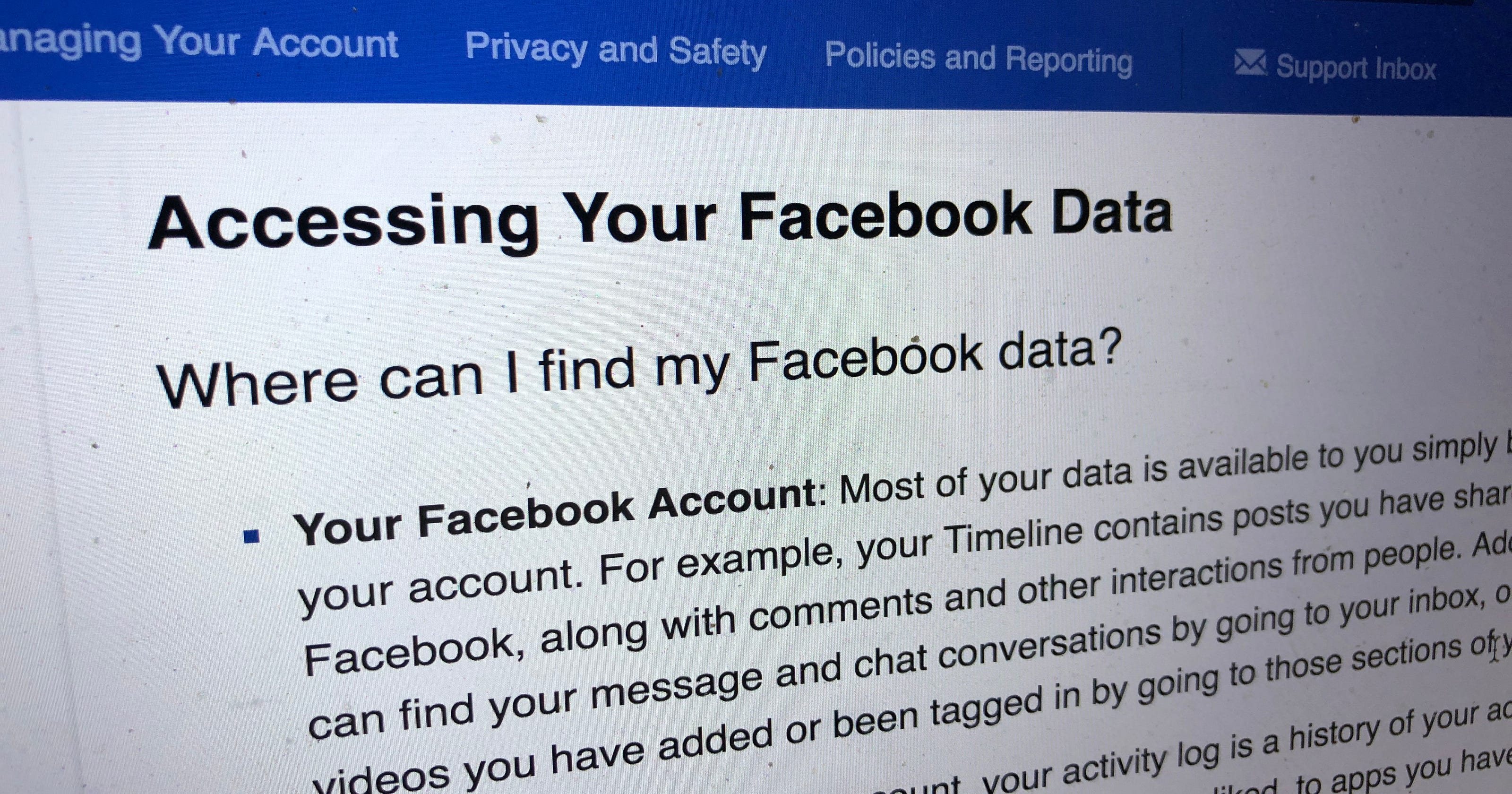 Download your Facebook data: how to do it and what you might find