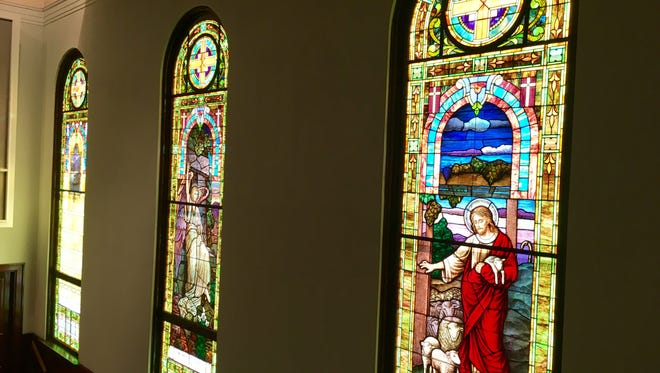 The 93-year-old stained glass windows at First United Methodist Church help tell the story of the faith, Pastor Max Zehner said.