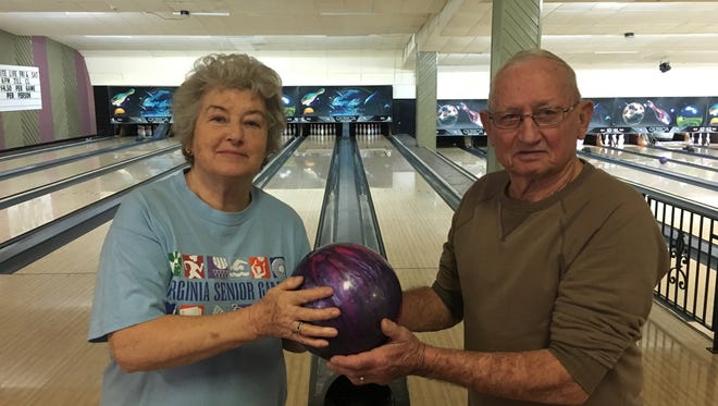 Dollie and Bill Simmons will be bowling in the Virginia Senior Games in Henrico in May.