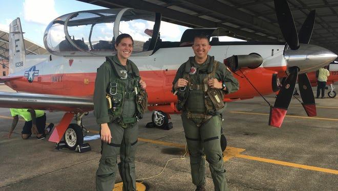 1st Lt. Elaina Alcocer at flight school in Pensacola, Florida.