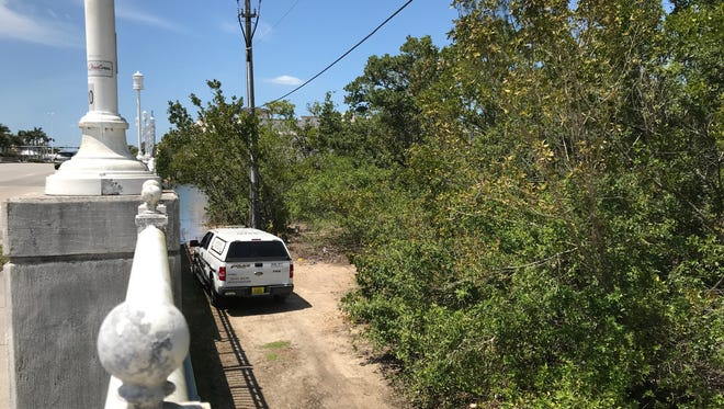 Authorities are investigating the discovery of human remains Monday, April 2, 2018, in Naples.