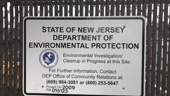 The state DEP has posted a sign posted at 137 Broadway alerting the public that an environmental investigation is in progress.