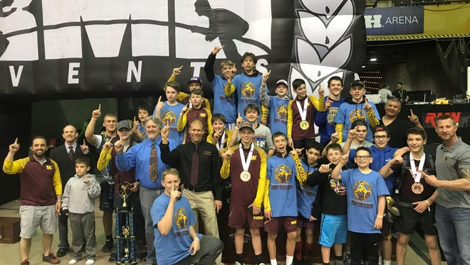 The Windsor Middle School wrestling team recently won the state title for the eighth time in the event's 11 times.