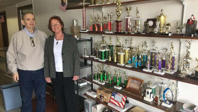 CL and Linda Cissna will close Cissna's Sporting Goods and Trophies on Saturday after 45 years in business in the Schnitzelburg area.