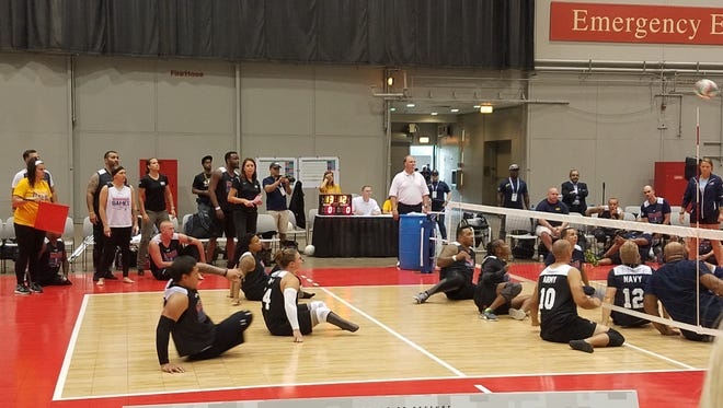 The U.S. Army's sitting volleyball team at the 2017 DoD Warrior Games in Chicago.