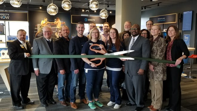On April 6 a ribbon-cutting was held at the new entertainment-themed AT&T store in Brookfield. One of the attendees was Brookfield Mayor Steve Ponto.