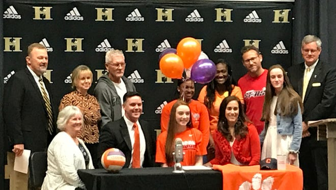 Gabby Easton signs to play volleyball with Clemson.