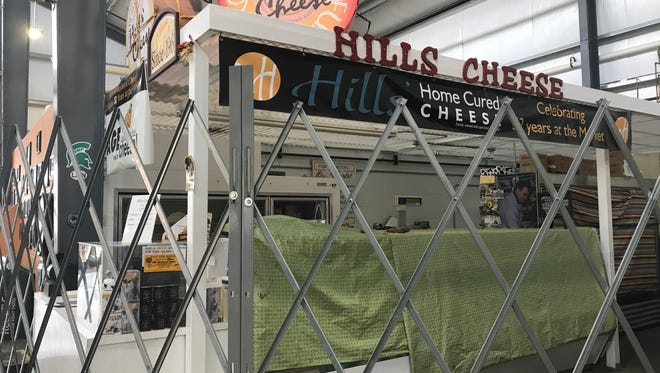 Hills' Home Cured Cheese was closed Wednesday and will close for good in April at the Lansing City Market.