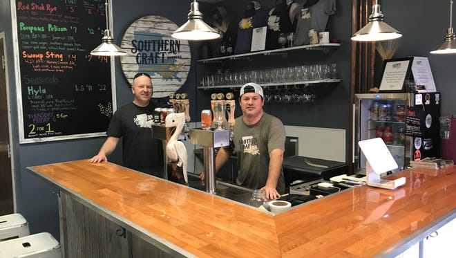 Wes Hedges and Joe Picou, co-owners of Southern Craft Brewing.