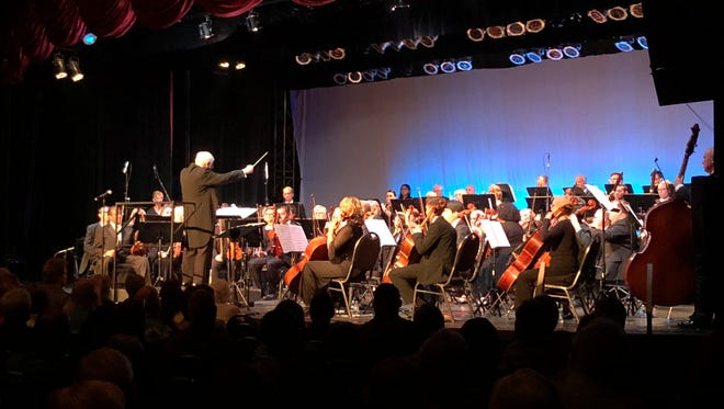 Dr. Selmer Spitzer conducts the Southern Nevada Symphony Orchestra at the CasaBlanca Resort & Casino in Mesquite on April 14, 2018