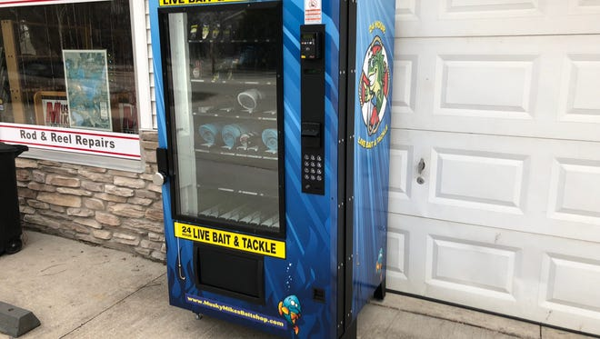 Musky Mike's in Okauchee has a bait vending machine available for fishermen.