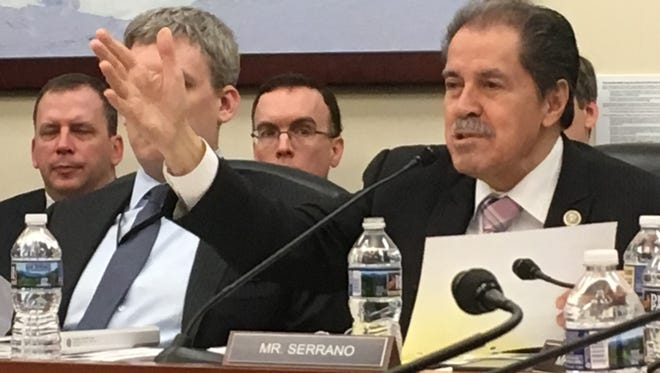 Rep. Jose Serrano, D-N.Y., questioned Census officials Wednesday about the bureau's plan to add a question about citizenship to the 2020 Census.