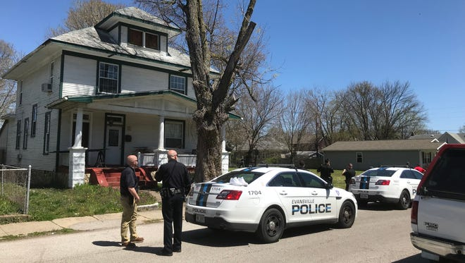 """Evansville Police detained two men who are """"persons of interest"""" in a shooting in the 900 block of Judson Street."""