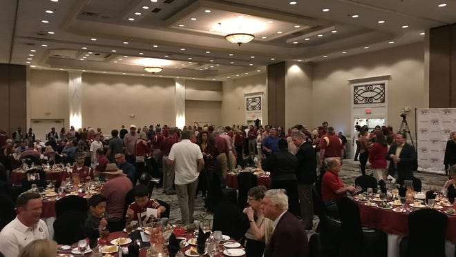 The Panama City Seminole Club sold 382 tickets to the Willie Taggart Booster Tour event.