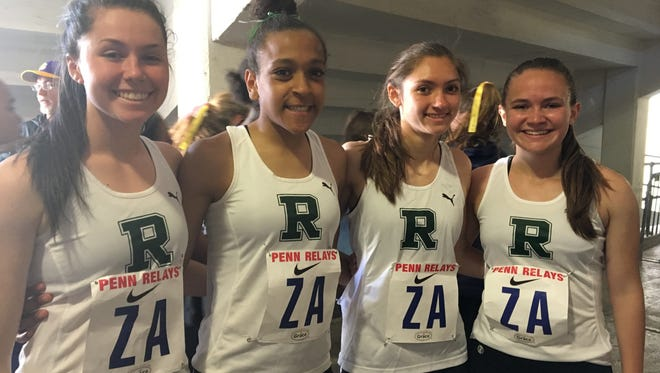 Ridge's 4x800 (left to right): Meghan Convery, Olivia Cicchetti, Morgan Lyons and Kaitlyn Van Baalen
