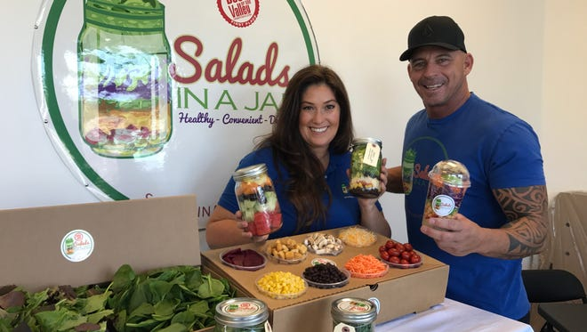Salads in a Jar owners Michelle and Kevin Steadman, of Indio, offer a full menu of items made with fresh, healthy ingredients delivered to your door.