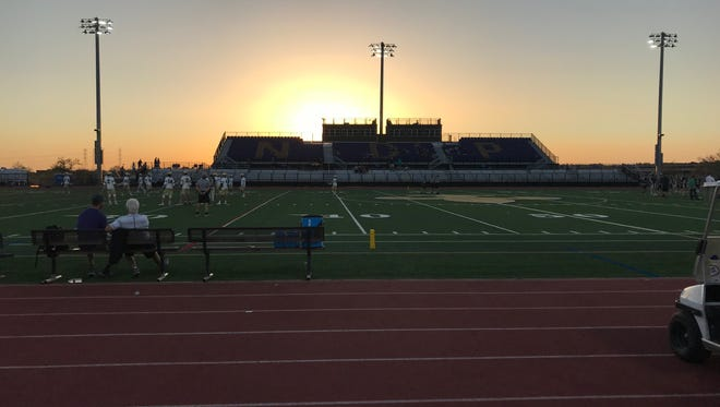 The field before Desert Vista and Notre Dame face off in an Arizona lacrosse playoff game.