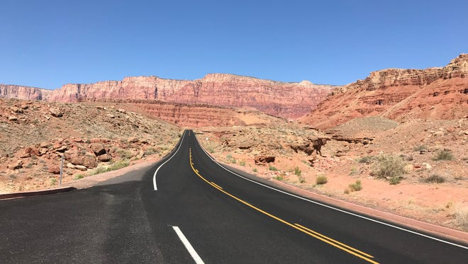 A scenic six-mile road leads from the highway to Lees Ferry in the Glen Canyon National Recreation Area, April 24, 2018.