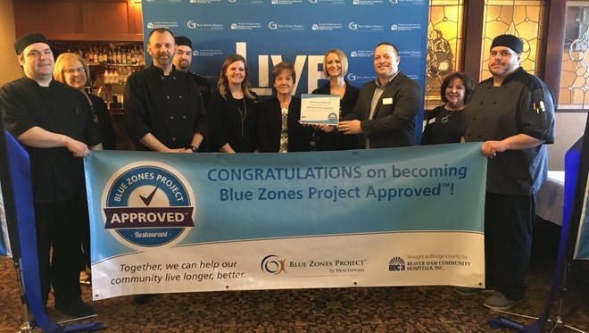 Benvenuto's Italian Grill held a ribbon-cutting ceremony Feb. 27 to celebrate its status as a Blue Zones Project Approved restaurant.