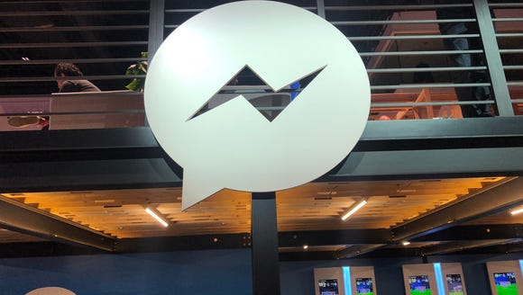Facebook's Messenger logo at the F8 conference