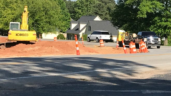 Sharp curve near Hopewell Church is being eliminated