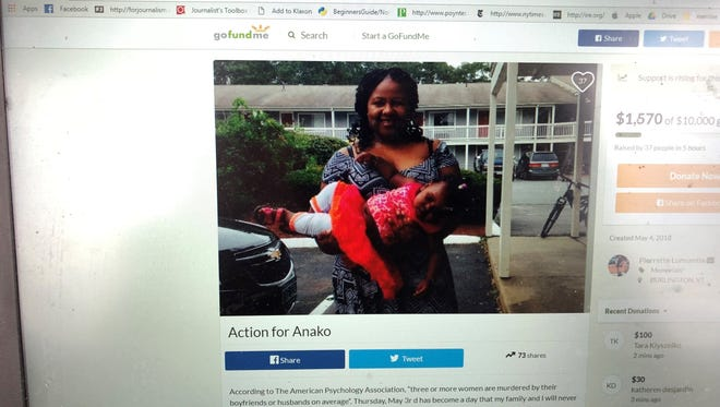 A GoFundMe, seen here on Friday afternoon, describes Lumumba as a caretaker who leaves young children behind