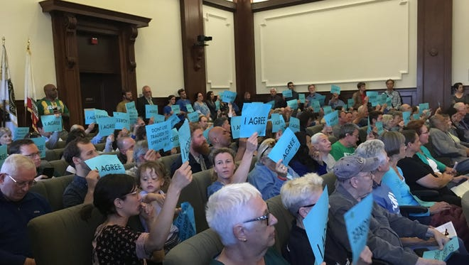 Dozens of people called for compassion toward the homeless during the Ventura City Council meeting May 7.