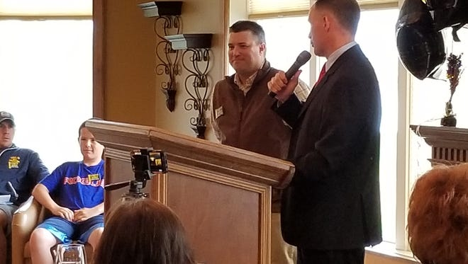 GFPD detective Jesse Slaughter, a Democratic candidate for Cascade County Sheriff, announces fellow GFPD detective Cory Reeves as his pick for undersheriff. The primary is set for June 5.