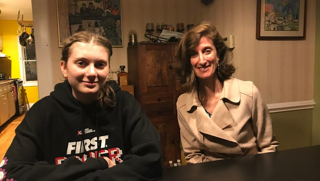 Montclair High School junior Serena Wurmser, left, will doing an NASA-connected internship in Texas in July. Her mother, Nina Sonenberg, is to her right.