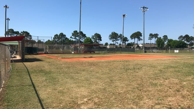 This field at Tiger Point Park in Gulf Breeze will be the future site of the Miracle League of Santa Rosa County as soon as 2019 after the Santa Rosa County Commissioners approved plans for the field on Thursday, May 10, 2018 . The county will now prepare a package for bids to build the field that will allow individuals with special needs the chance to play baseball.