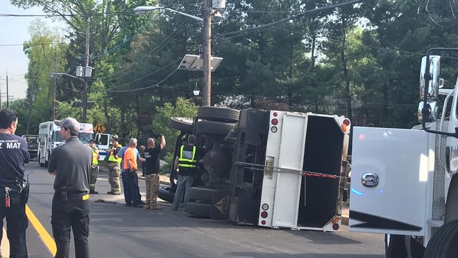 Truck was overturned in Paramus