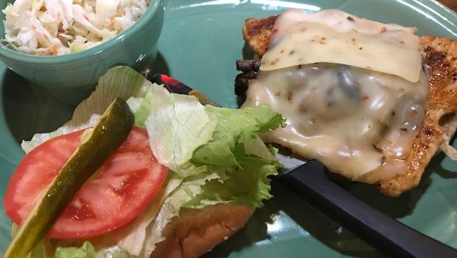 R's Santa Fe chicken sandwich ($8.95) at R's Diner