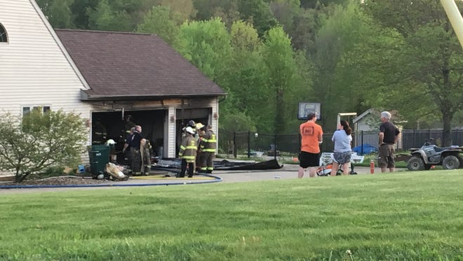 The Troy Township Fire Department is investigating the cause of a garage fire on Lindsey Road on Monday evening. No one was injured in the fire.