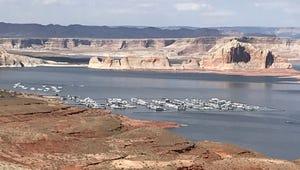 Lake Powell, near Page, in Northern Arizona.