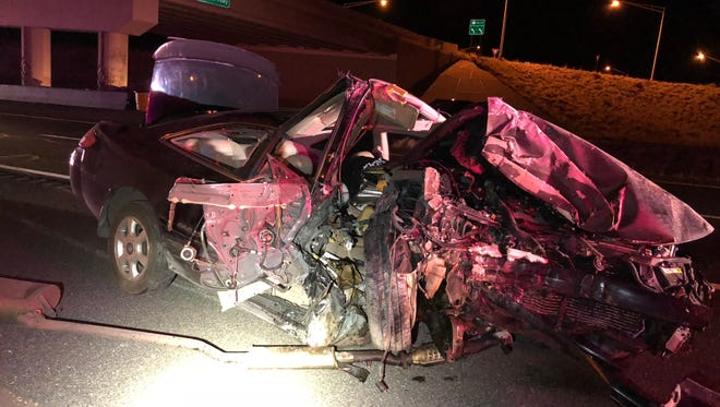A teen is in critical condition after losing control of his vehicle, crashing into a center median