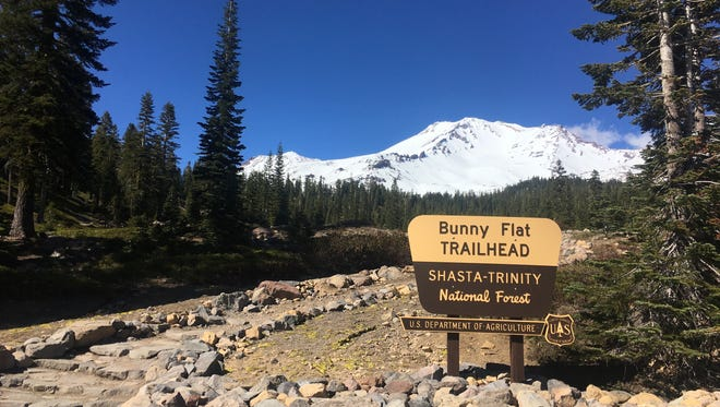 Mt. Shasta as seen from the Bunny Flat trailhead on May 10, 2018.