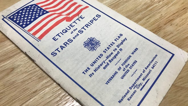 "Karen Cyson's copy of ""The Etiquette of the Stars and Stripes."""