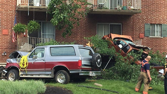 One person was killed in this crash at Boudinot and Werk Road on Monday morning