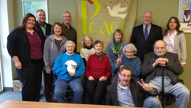 Sheboygan Friends of Peace Park participate in the Global Art Project for Peace exchange.