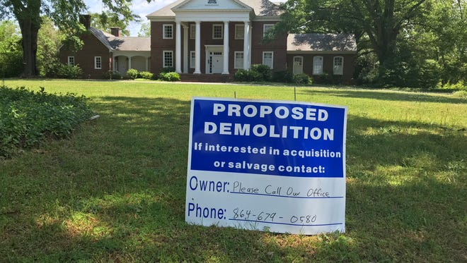 A large stately home on Augusta Road is set for demolition.