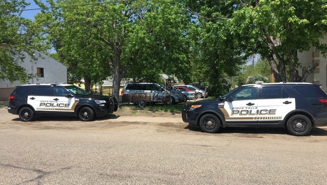 Police in the area of Whittier Park on Tuesday afternoon after two missing kids were found.