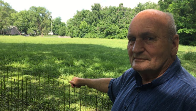 Charles Tennis knows why the land behind his Springfield home has never been developed.