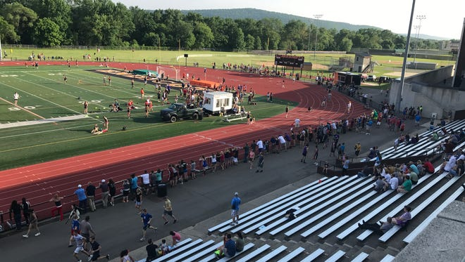 Toasty but beautiful evening for Day 1 of Section 4 State Track & Field Qualifier Wednesday at Union-Endicott.