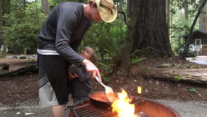 Campfires are banned at all Oregon state parks, even at the coast.