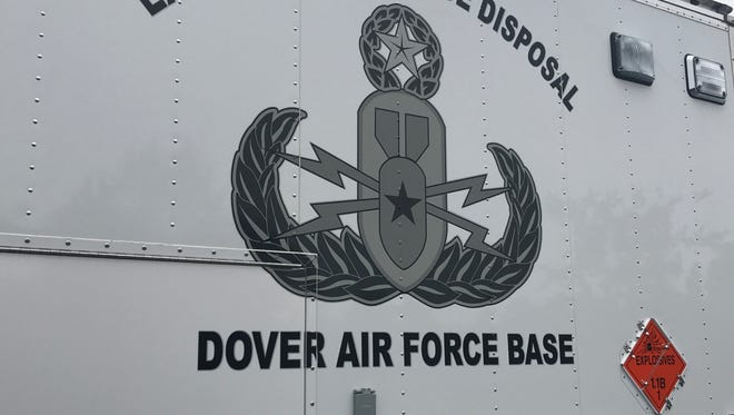 The Dover Air Force Base rendered safe two grenades found at Cape Henlopen State Park on Wednesday.