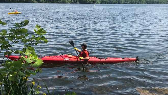 On June 2, the Oradell Reservoir was open to the public to enjoy kayaking or canoeing.