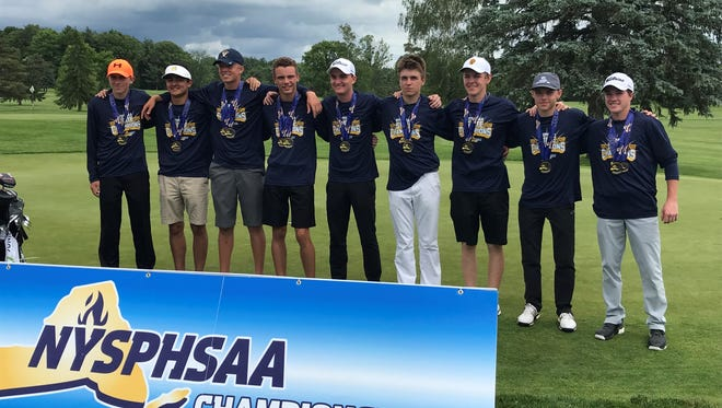 Section V boys golf team at Cornell winning its second-straight state championship