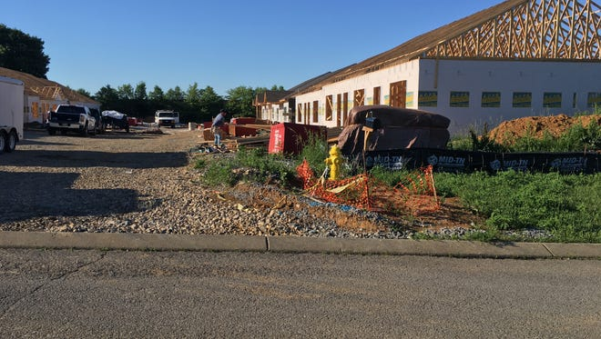 Construction of Kendra Place Apartments in Gallatin is underway on Monday, June 4, 2018.