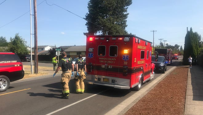 A 9-year-old girl was hit by a car Tuesday afternoon after leaving Scott Elementary