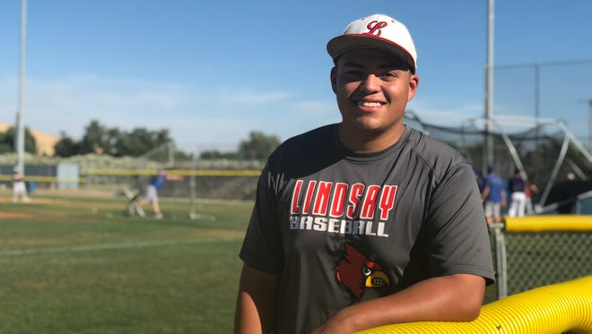 David Jimenez will be representing Lindsay High at the Exeter Lions East/West All-Star Baseball Game on Saturday at Rec Park.